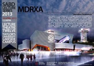 SABD Lecture Series : MDRXA