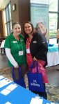 Anne Marie Ferretti at MSRN table at the Alzheimer's Conference May 6, 2016