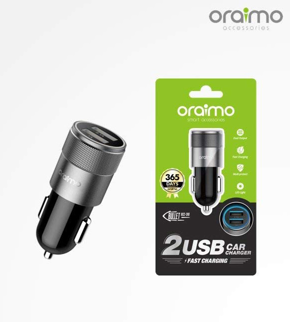 Oramio 2USB Fast Charger Car  DCC-310