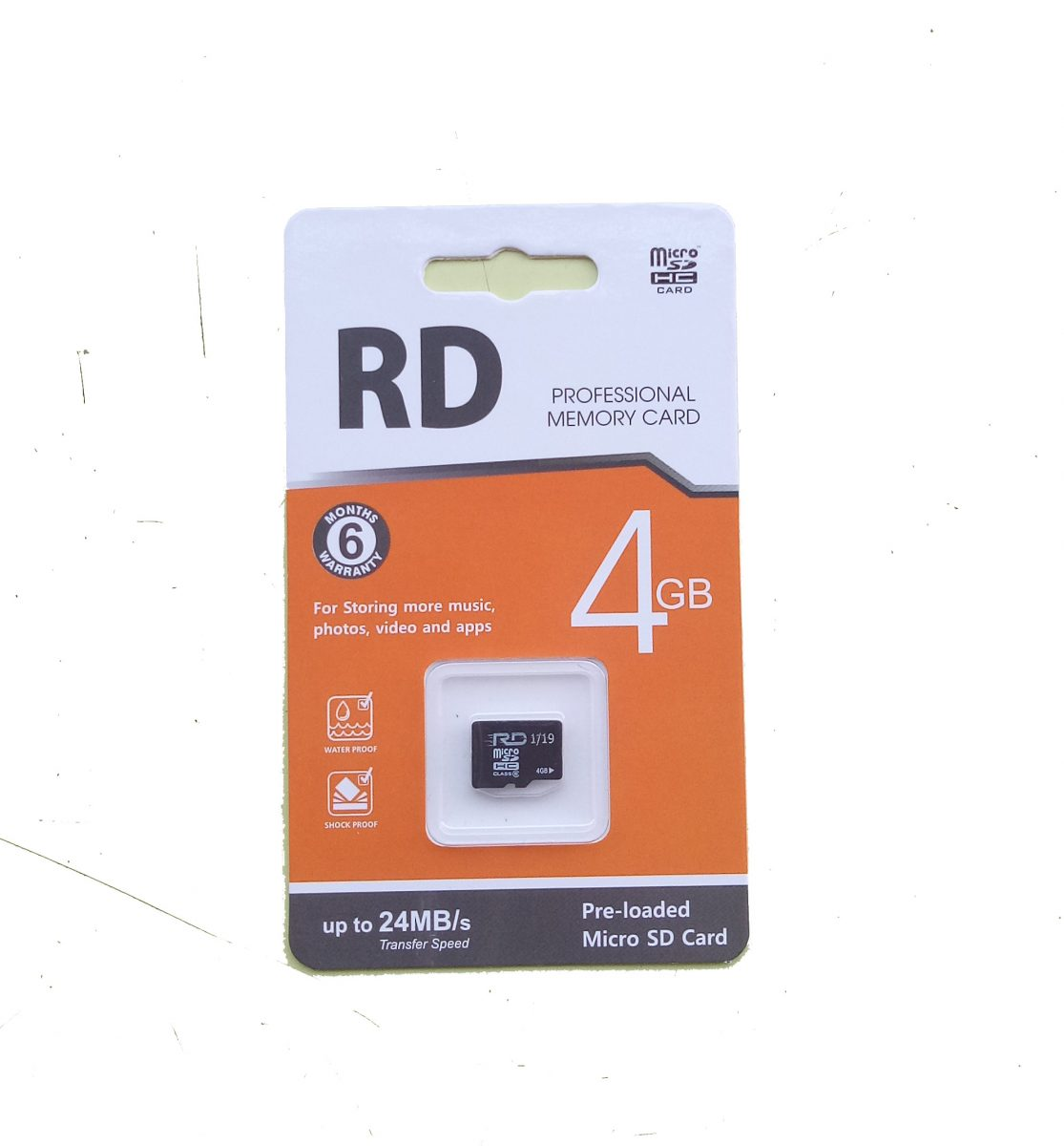 RD 4GB Memory card 1 Year warranty