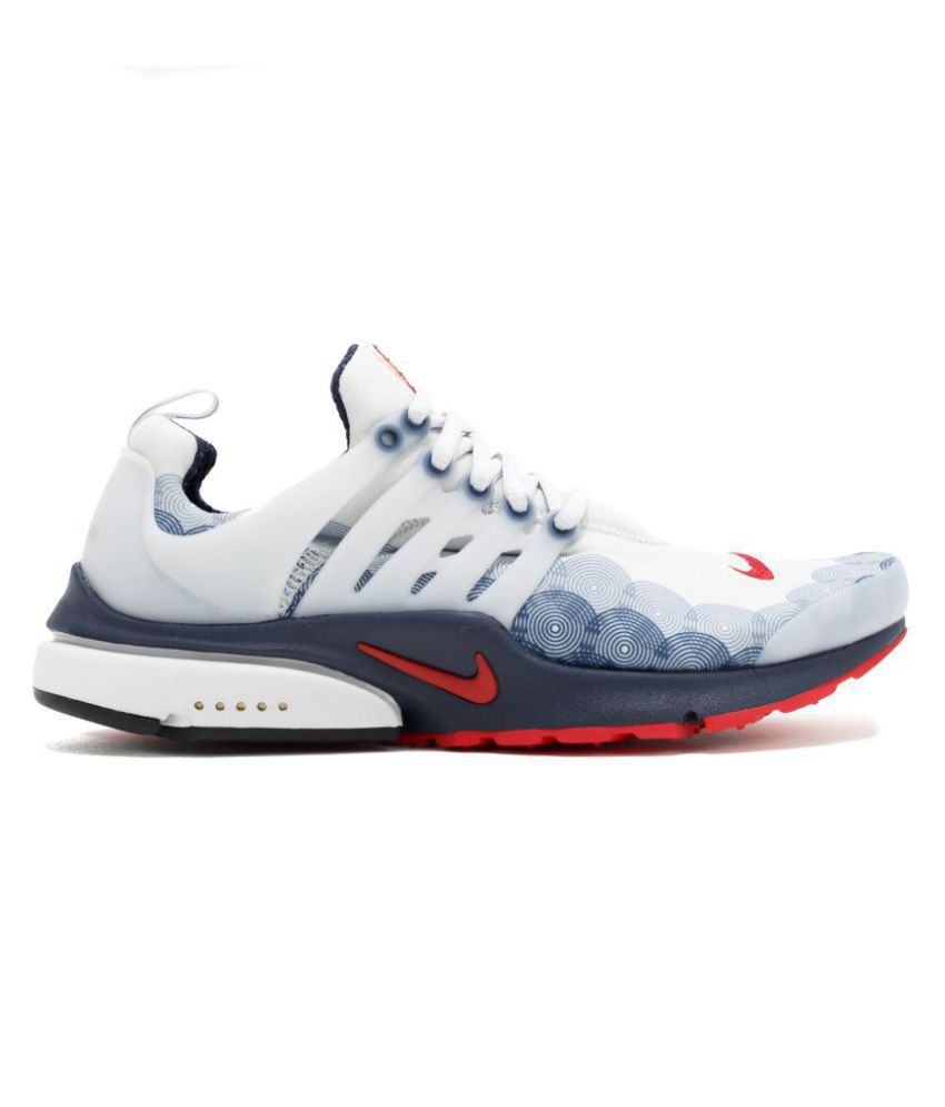 Nike Presto Olympic running shoes white and grey