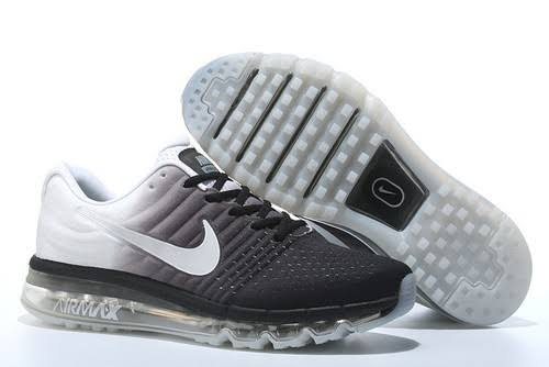 Airmax 2017 Sports Shoes ( Black+White+Grey)