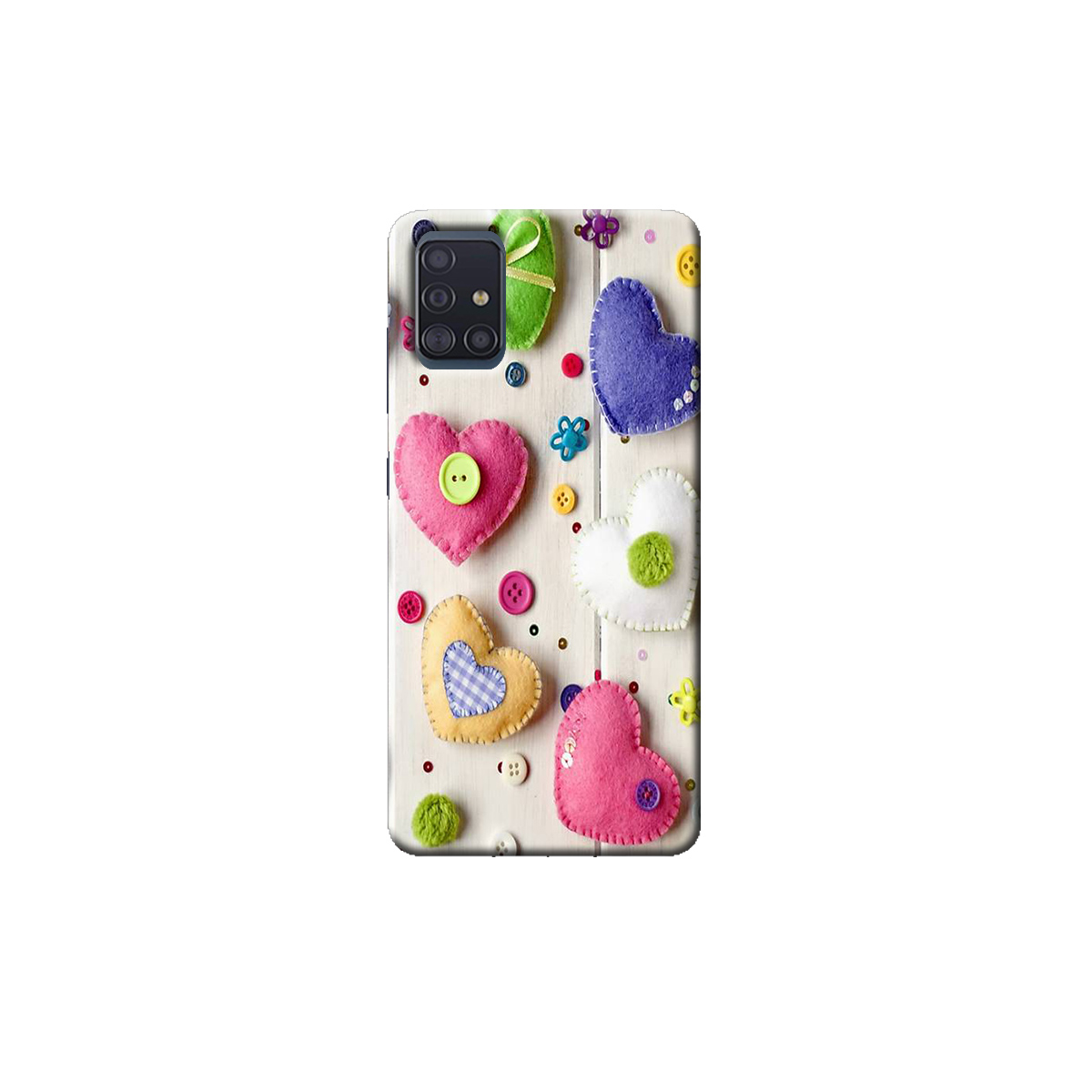 samsung A51 Back cover(Heart)