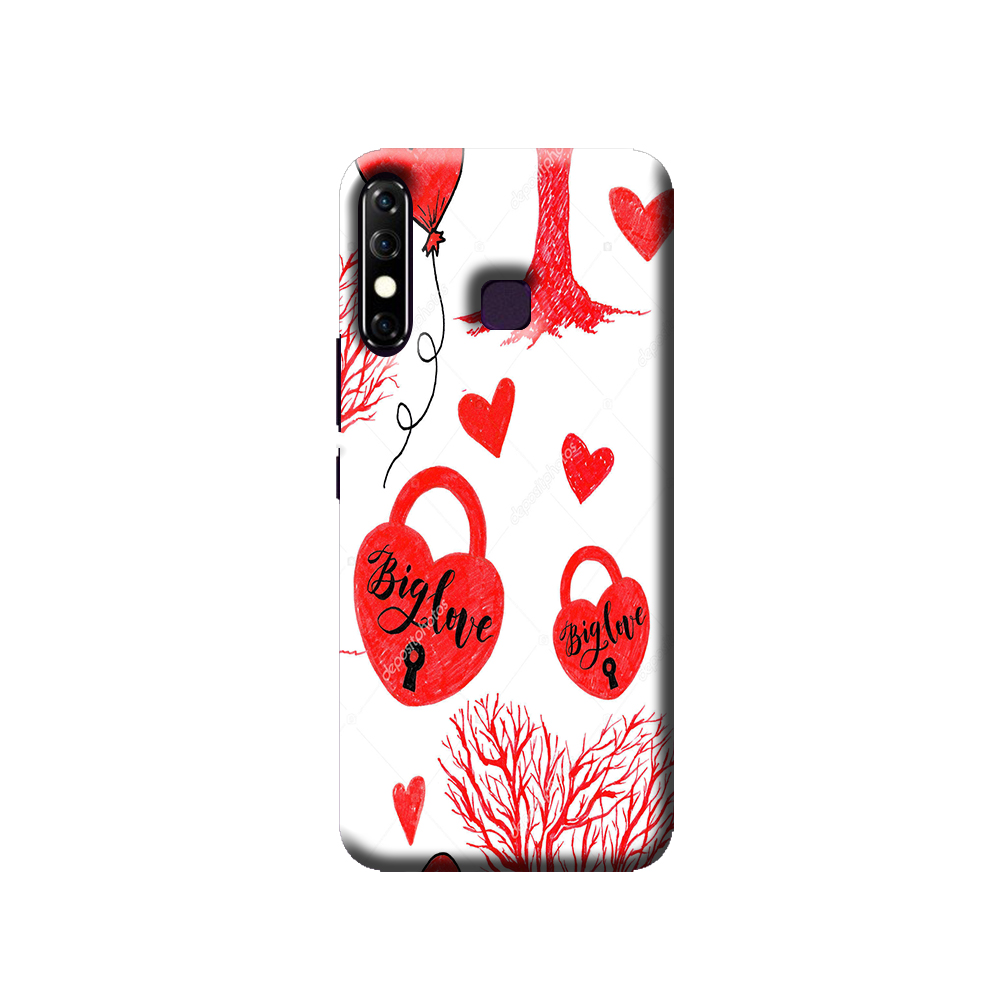New Infinix Hot 8 Mobile cover (Love Lock)