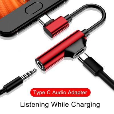2 in 1 Type C to Audio and Charging connector