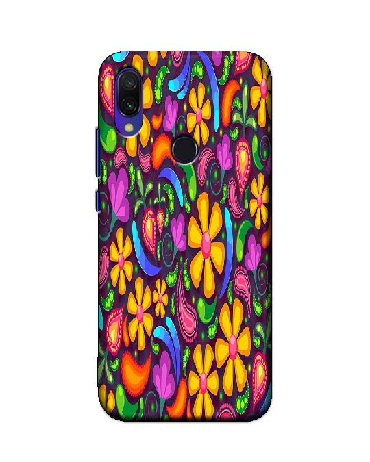 redmi y3 back cover (floral)