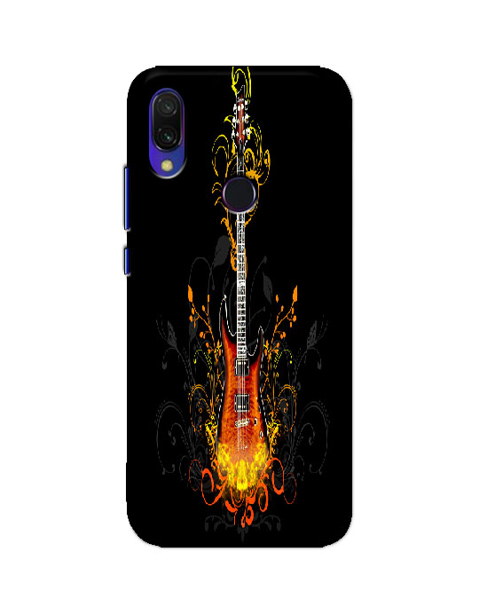 redmi y3 back cover (fire guitar)