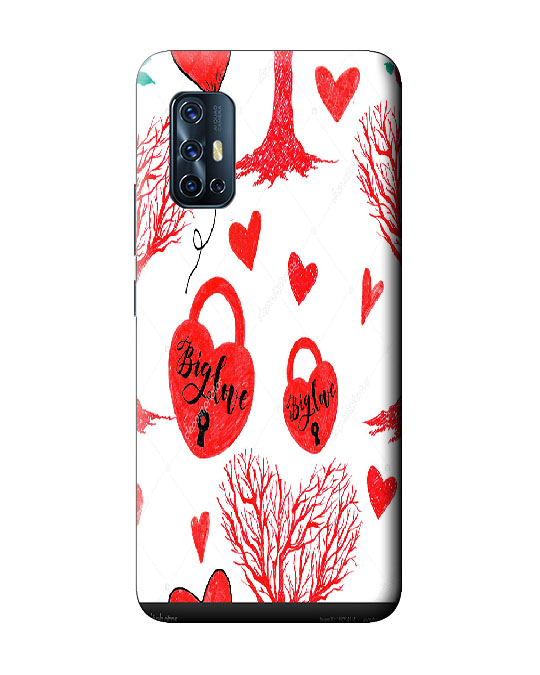 vivo V17 back cover (Love lock)