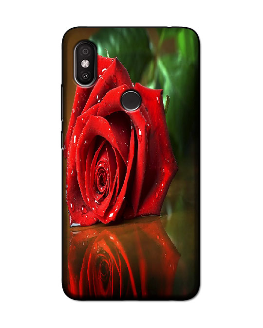redmi y2 back cover (red rose)