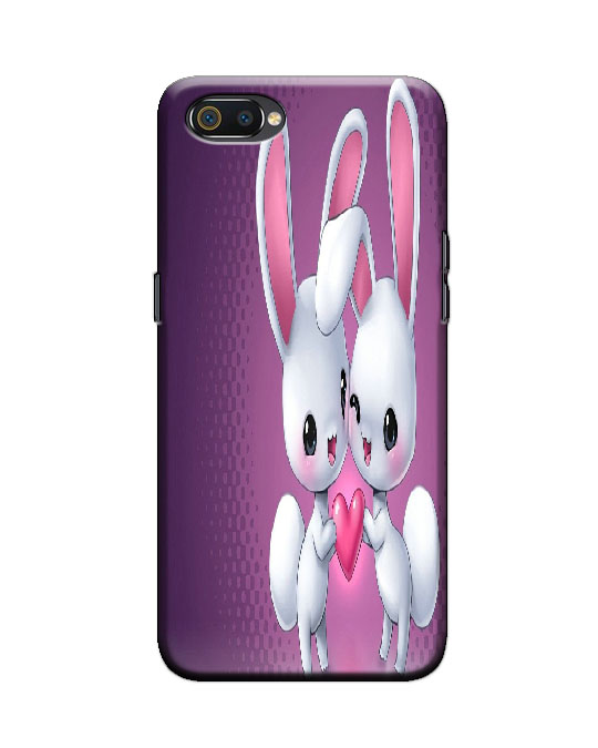 Realme C2 back cover (rabits)
