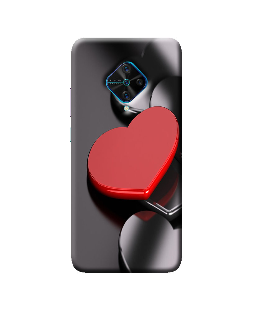 Vivo S1 Pro Mobile back cover (Red Heart)