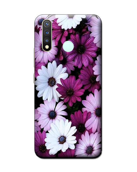 vivo y19 back cover (white flower)