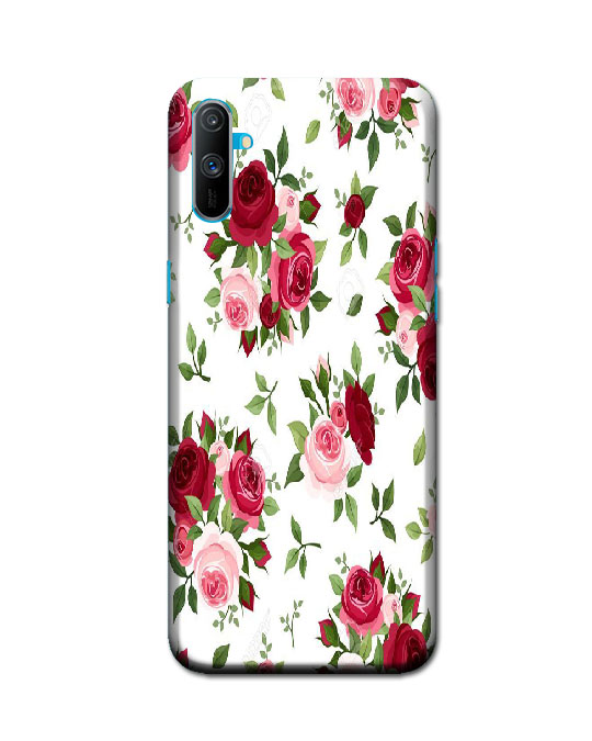 realme c3 ka cover (flower pattern)