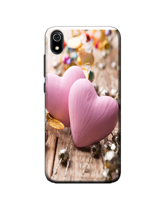 Redmi 7A back cover (pink hearts)