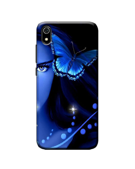 Redmi 7A back cover (blue butterfly)