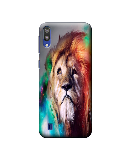 samsung m10 mobile back cover (Lion)