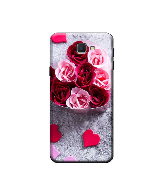 samsung j5 prime mobile back cover (rose heart)