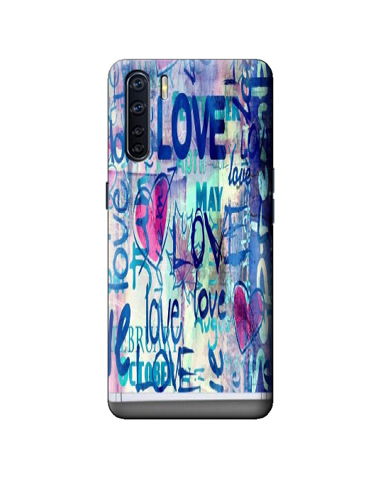 oppo F15 mobile back cover (Love)