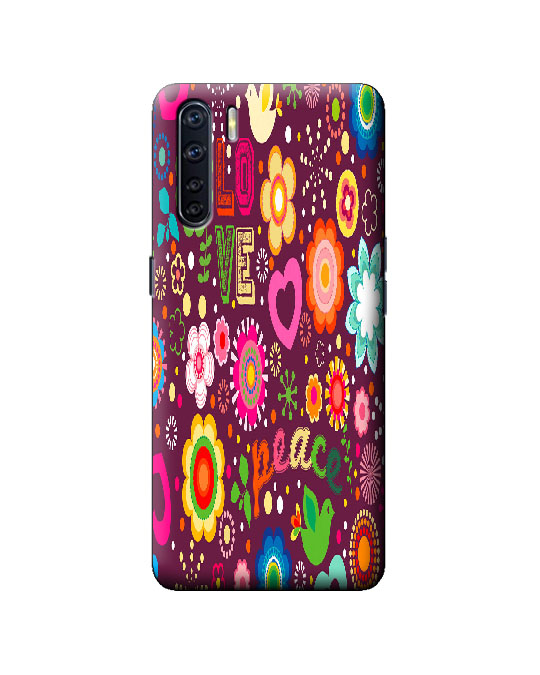 oppo F15 mobile back cover (love flower)