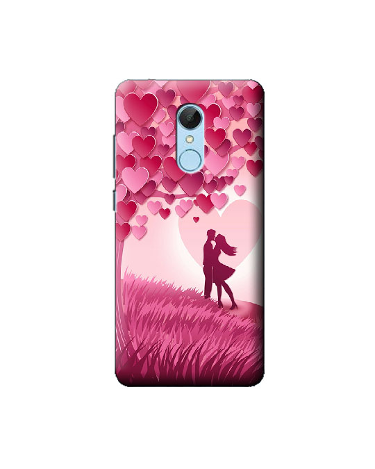 Redmi 5 Mobile Back cover (pink love)