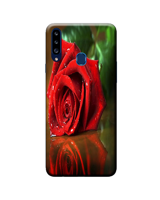 A20s samsung back cover (red rose)