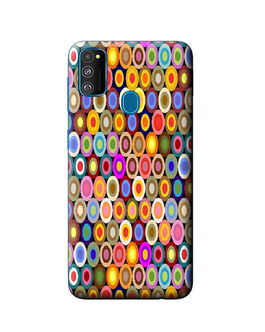 galaxy m30s back cover (round)