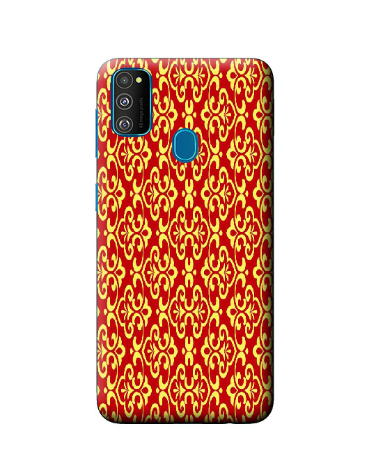 galaxy m30s back cover (floral pattern)