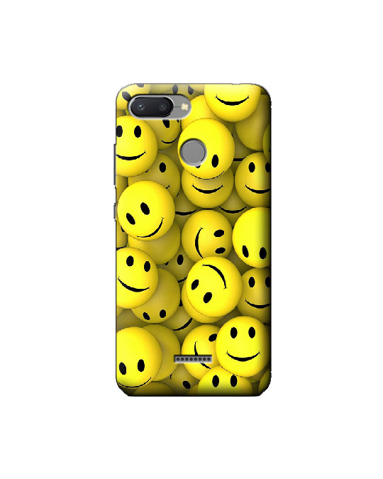 Redmi 6 Mobile back cover (smiley)