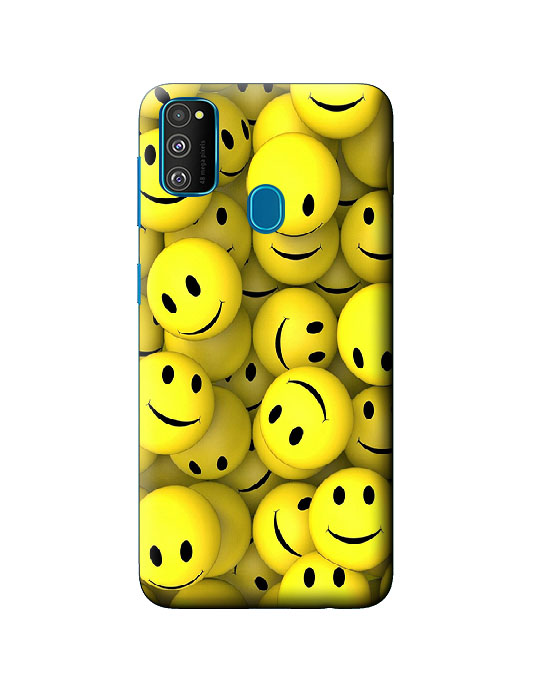galaxy m30s back cover (smiley)