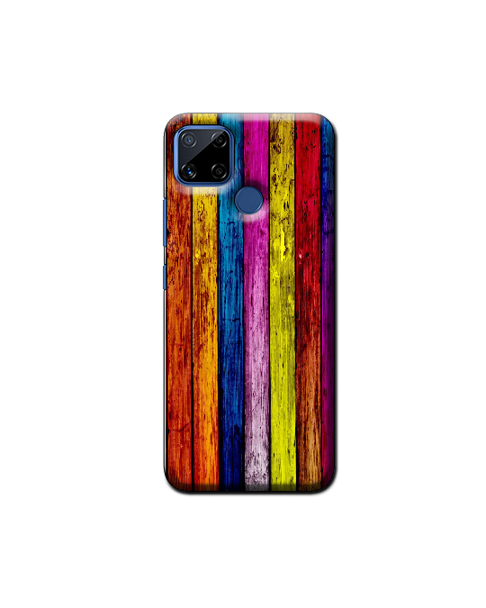 Realme C15 Mobile Back Cover (colours wood)