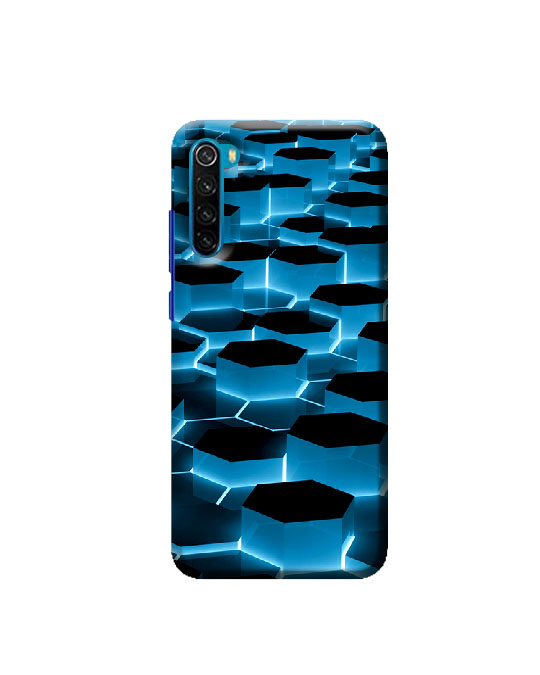 Redmi mi Note 8 mobile Back cover (Hexagone)