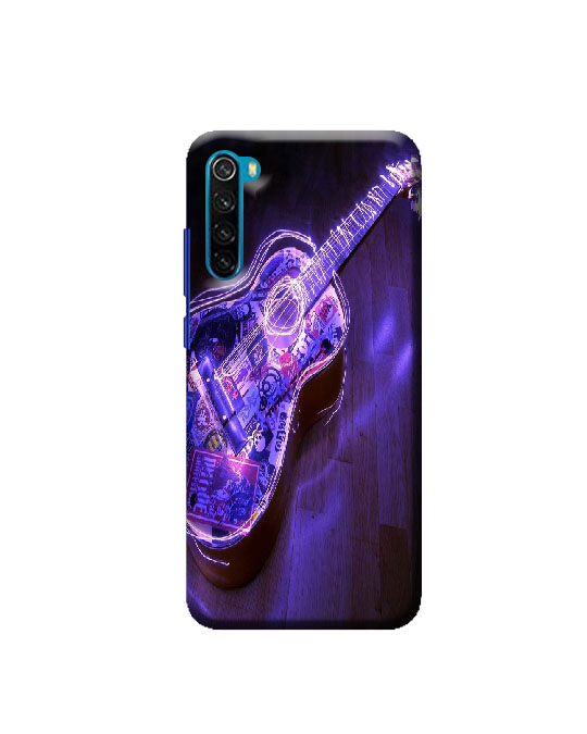Redmi mi Note 8 mobile Back cover (lighting Guitar)