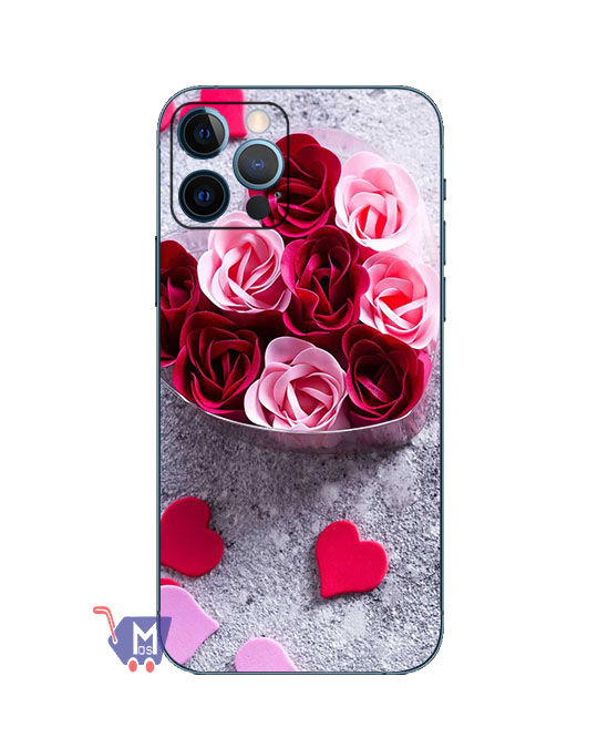 Rose Flower Print Mobile Back skin (Wrap)