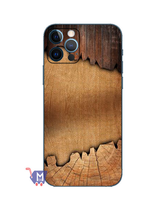 Wooden Pattern Back Wrap Skin For Mobile