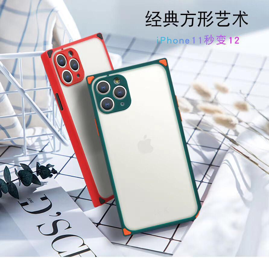 Red Colour iphone 12 Pro Max mobile Back cover (square shape)
