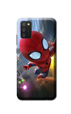 spiderman cartoon print Samsung Galaxy Mobile M02s cover