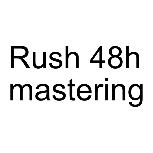 rush mastering 48 hours; online mastering services