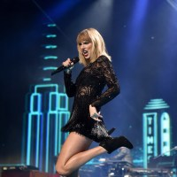 Taylor Swift performing in Houston