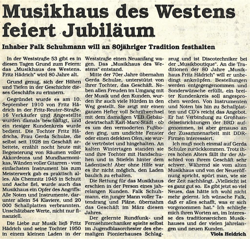 Das Musikhaus des Westens feiert Jubiläum