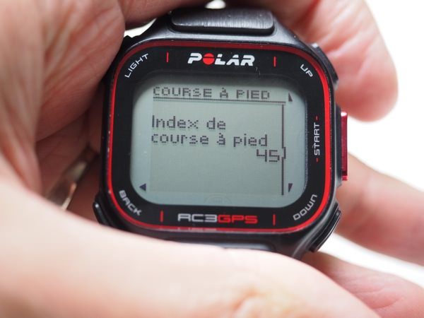 Polar RC3 GPS Running index