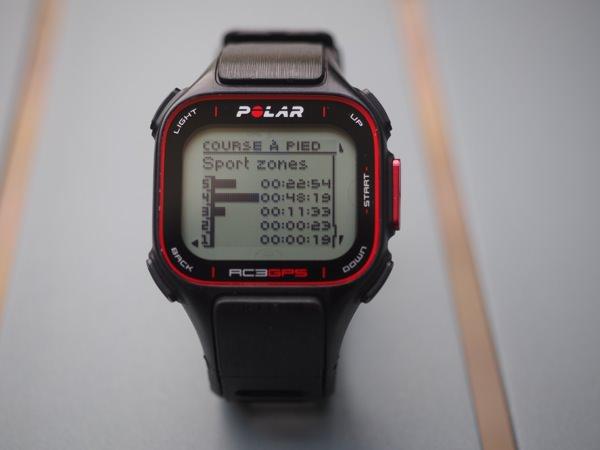 Polar RC3 GPS zones