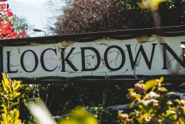 A street sign saying Lockdown