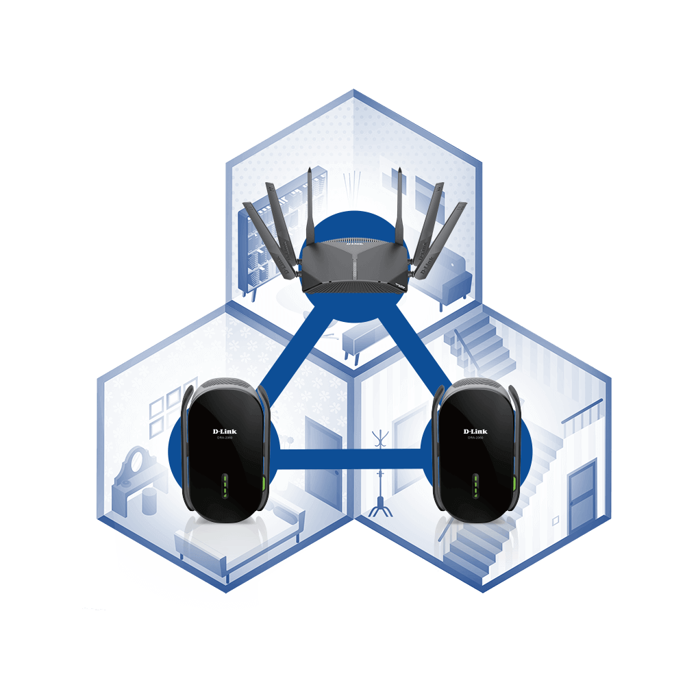 ADD EXO EXTENDER TO EXO SMART MESH WI-FI ROUTER
