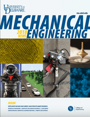 cover of the magazine for Mechanical Engineering department