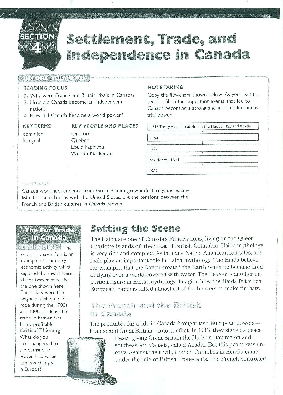 Canadian Inuits Reading Worksheet