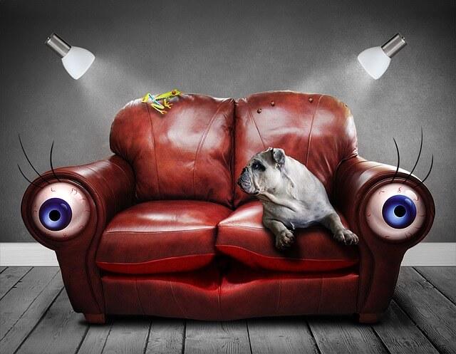 Αν πέσει αναμμένο τσιγάρο στον καναπέ τον δερμάτινο