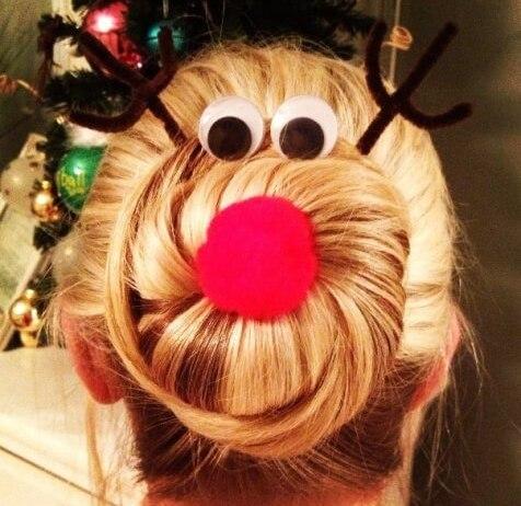 Τρελά χτενίσματα Χριστουγέννων