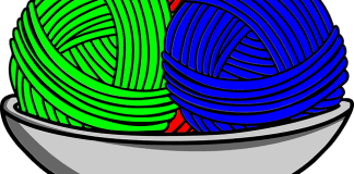 Πλέκουμε με 3 διαφορετικά χρώματα μαλλί