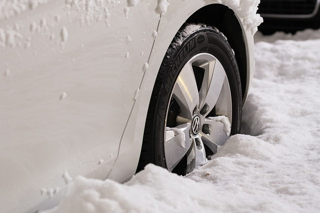 Με χιονοθύελλα στο αυτοκίνητο