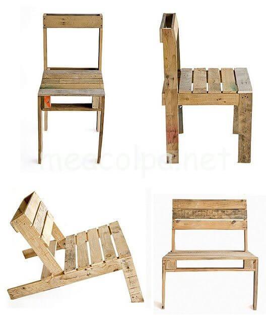 Καρέκλες φτιαγμένες με παλέτες
